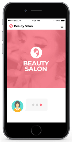 Beauty Salon Chatbot examples