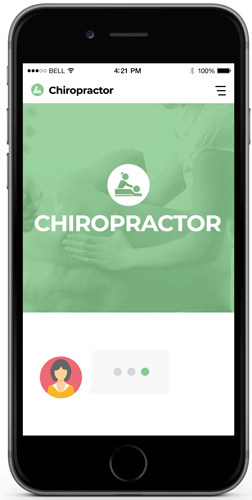 A bot for a chiropractor