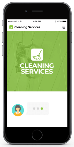 Chatbot examples for cleaning services