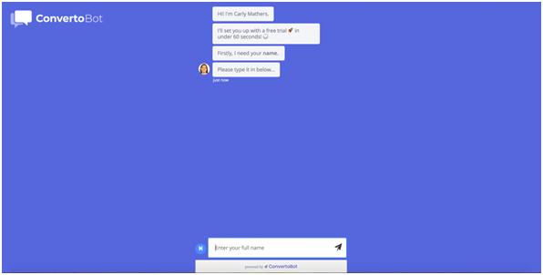 bot landing page